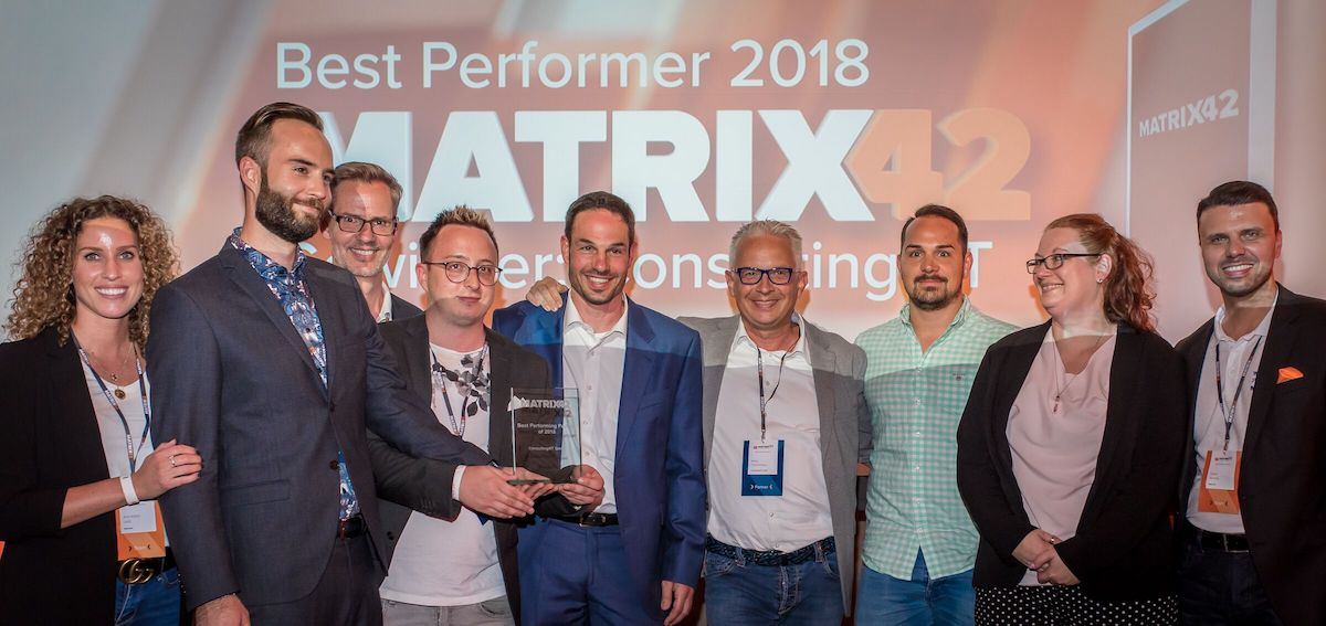 Best Performing Partner 2018 Matrix 42